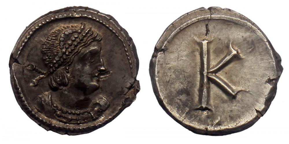 Konstantinápoly 1/3 siliqua, RR!