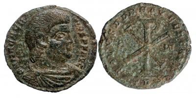 Római Birodalom Magnentius 350-353 dupla maiorina Christogram