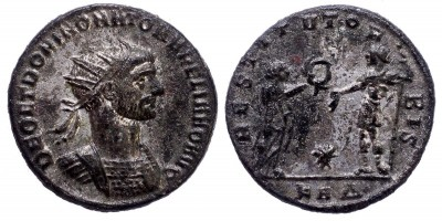 Római Birodalom Aurelianus 270-275 antoninianus DEO ET DOMINO RRR!