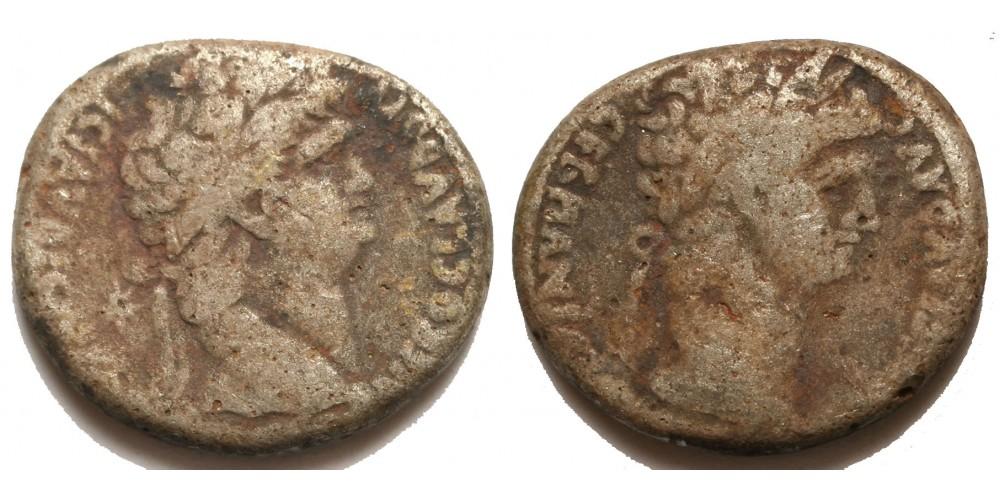 Római Birodalom Nero és Divus Claudius 54-68 tetradrachma Antiochia