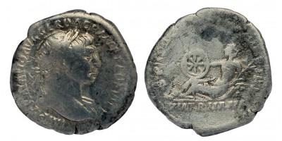 Római Birodalom Traianus 98-117 denár Via Traiana
