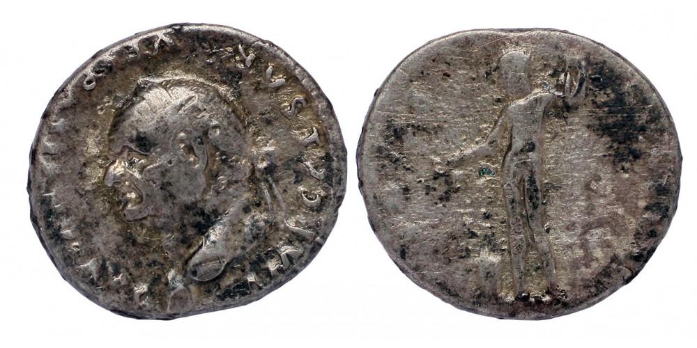Római Birodalom Vespasianus 69-79 denár Vesta
