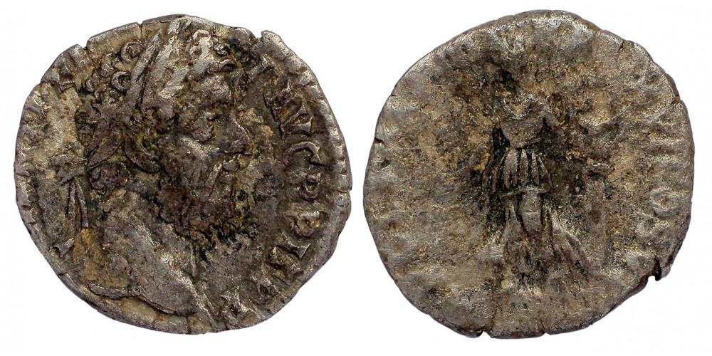 Római Birodalom Commodus 177-192 denár Apollo lírával
