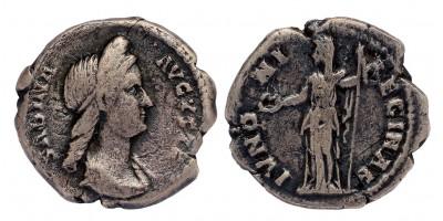 Római Birodalom Sabina 128-136/7 denár