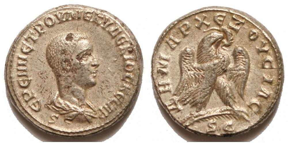 Római Birodalom Herennius Etruscus 250-251 tetradrachma Antiochia