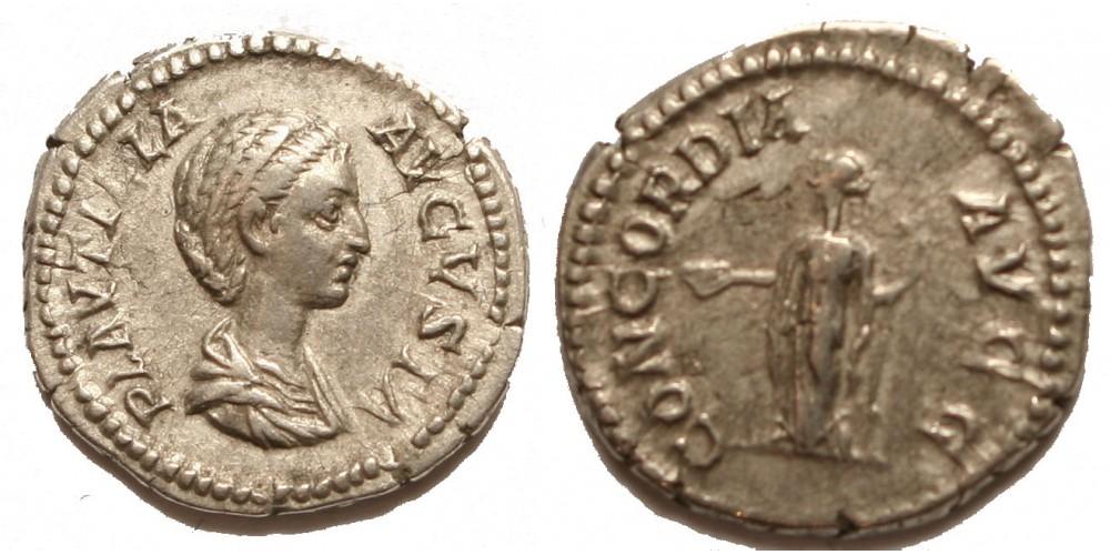 Római Birodalom Plautilla 202-205 denár