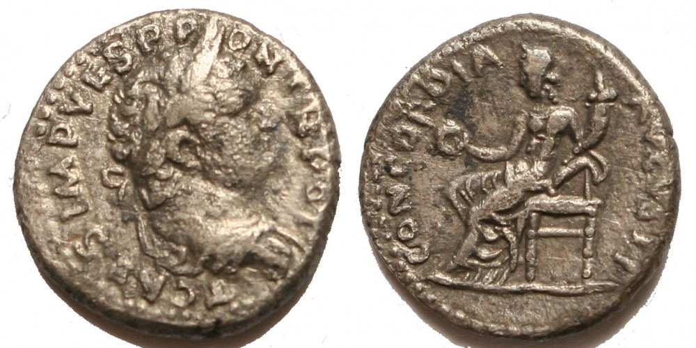 Római Birodalom Titus 69-79 denár Antiochia