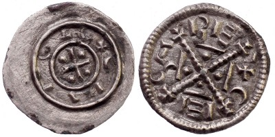 II. Géza 1141-62 denár ÉH 54
