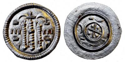 II. Béla 1131-41 ezüst denár ÉH 50