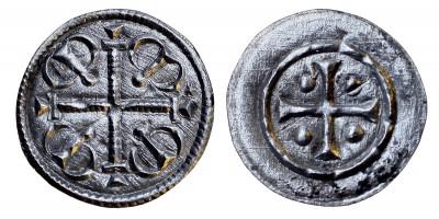II. Géza 1141-62 denár ÉH 60 R!