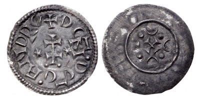 "II. András 1205-35 denár ""DEN. REG . ANDRE"" ÉH - RRR!"