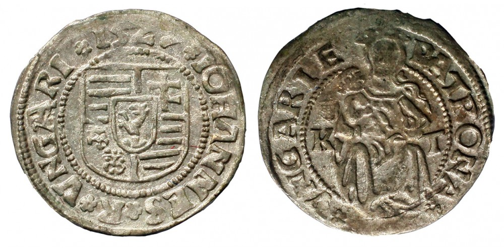 Szapolyai János denár 1527 K-T ÉH 699