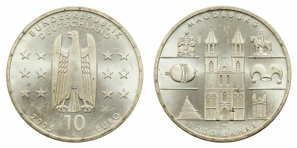Németország 10 EURO 2005 BU Magdeburg