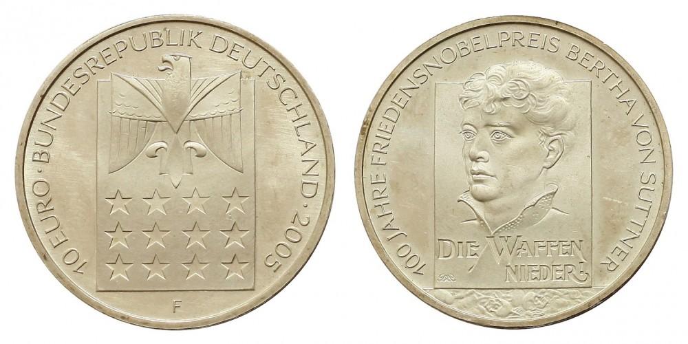 Németország 10 EURO 2005 BU  Bertha Von Suttner