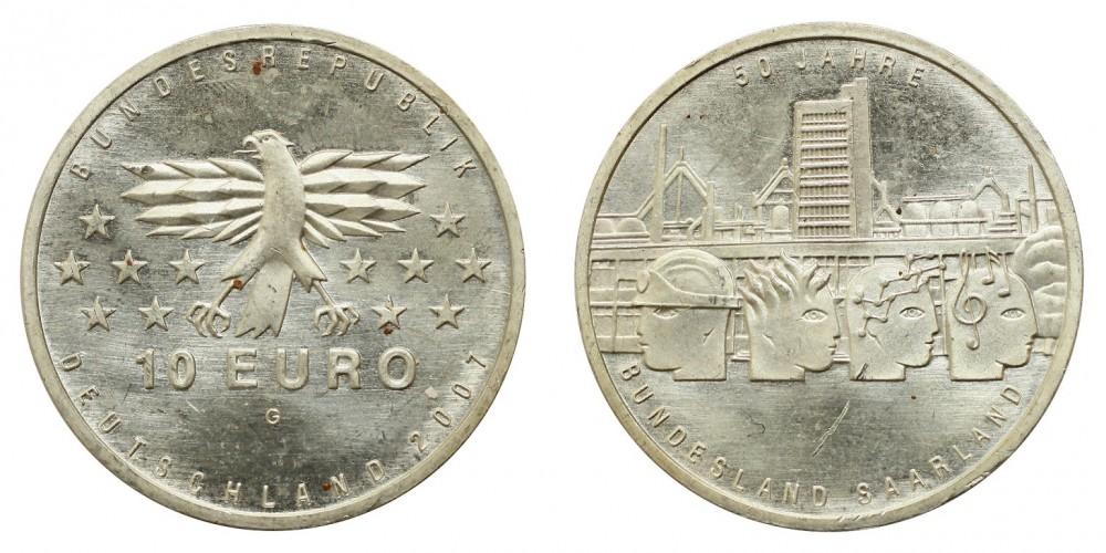 Németország 10 EURO 2007 BU Saar-vidék