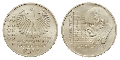 Németország 10 EURO 2008 BU Max Planck