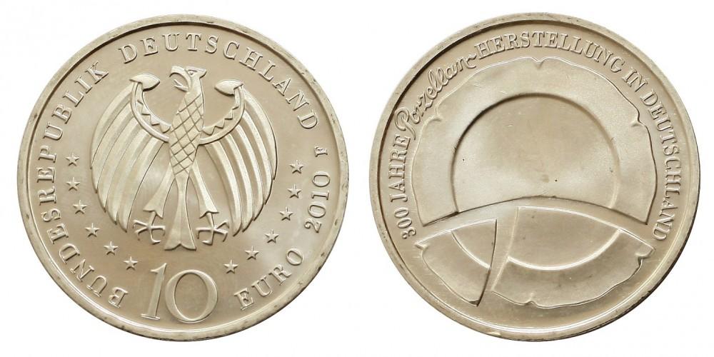 Németország 10 EURO 2010 BU 300 éves porcelán