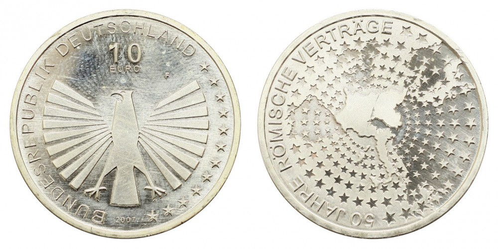 Németország 10 EURO 2002 BU Római szerződés 50.évforduló.