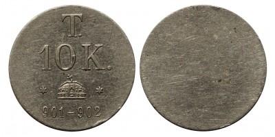 10 korona pénz súly