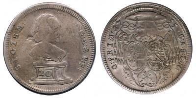 Salzburg Sigismund III. v.Schrattenbach 1753-1771 20 krajcár 1755