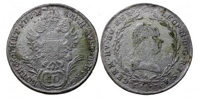 II.Lipót 10 krajcár 1791 B