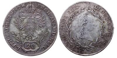 II.Lipót 20 krajcár 1792 G