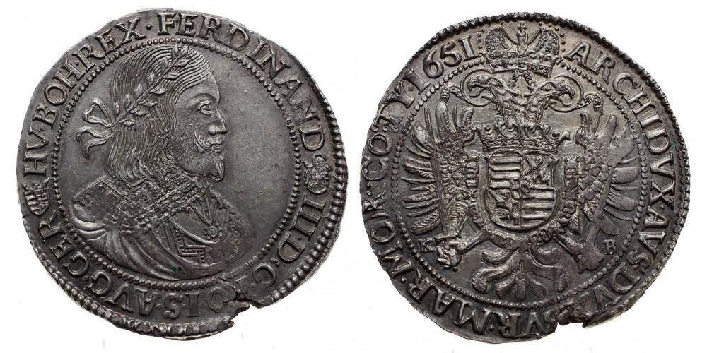 III.Ferdinánd tallér 1651 KB