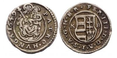 III.Ferdinánd vastag veretű denár 1649 KB RR!