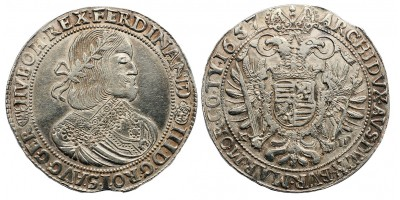III.Ferdinánd tallér 1657 KB