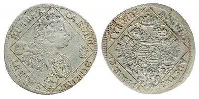 III.Károly 1/4 tallér 1737 NB.