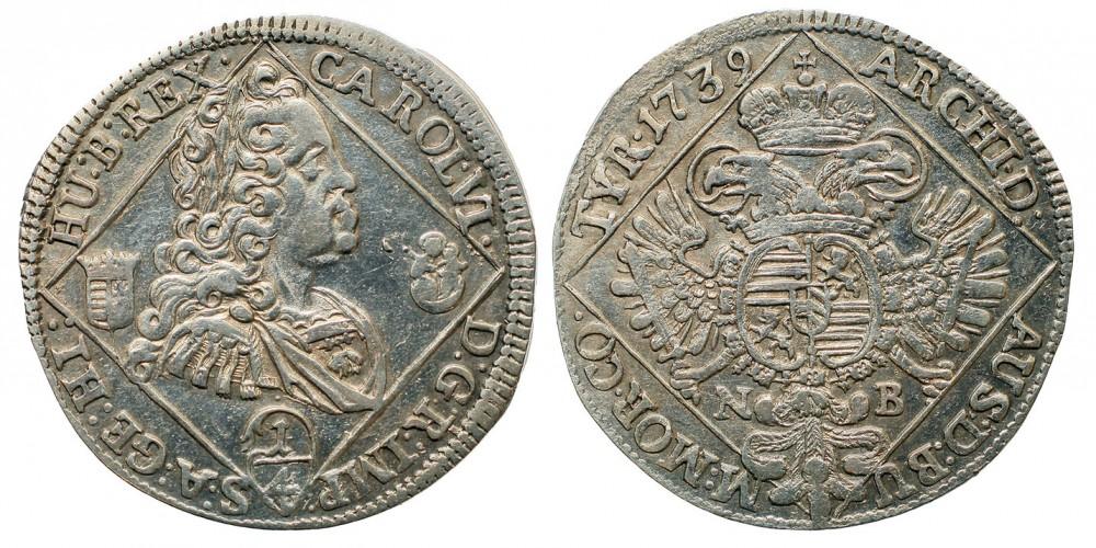 III.Károly 1/4 tallér 1739 NB.