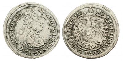 III.Károly 3 krajcár 1713 Graz