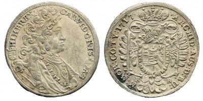 Károly 1/2 tallér 1717 KB