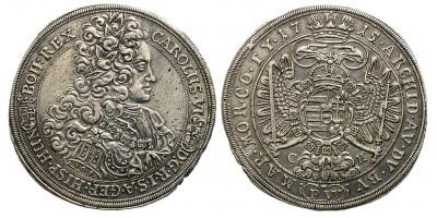 III. Károly tallér 1715 C-H R!