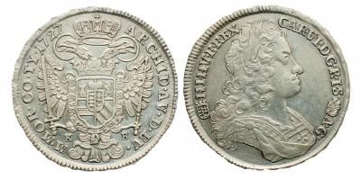 III.Károly 1/2 tallér 1727 KB.