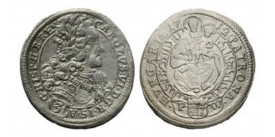 III.Károly 3 krajcár 1712 C-H