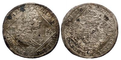 III.Károly 1/4 tallér 1728 NB.