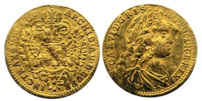 III.Károly dukát 1730 Gyulafehérvár