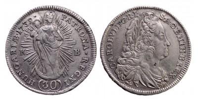 III.Károly 30 krajcár 1739 KB.