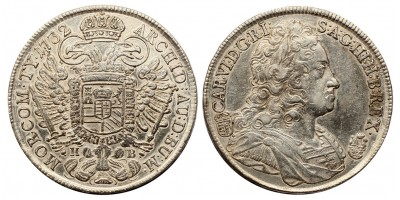 III.Károly tallér 1732 KB.