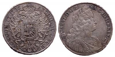 III.Károly tallér 1736 KB.