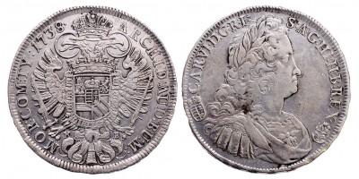 III.Károly tallér 1738 KB.