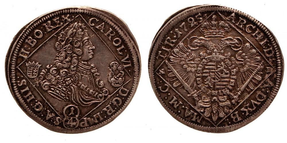 III.Károly 1/4 tallér 1725 NB.