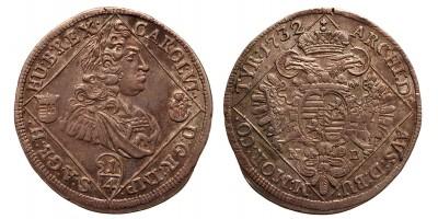 III.Károly 1/4 tallér 1732 NB