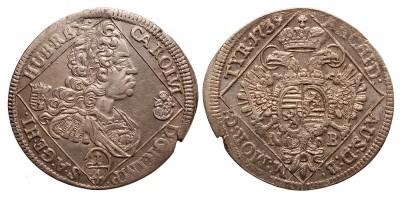 III.Károly 1/4 tallér 1739 NB