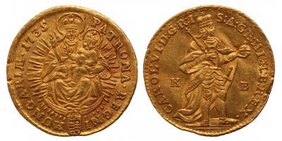 III.Károly dukát 1735 KB