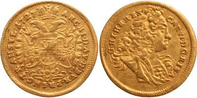 III.Károly dukát 1727 Gyulafehérvár