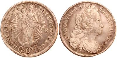Károly III. 30 krajcár 1740 KB.