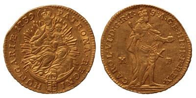 III.Károly dukát 1739 KB