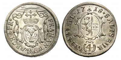 Salzburg 4 kreuzer 1718